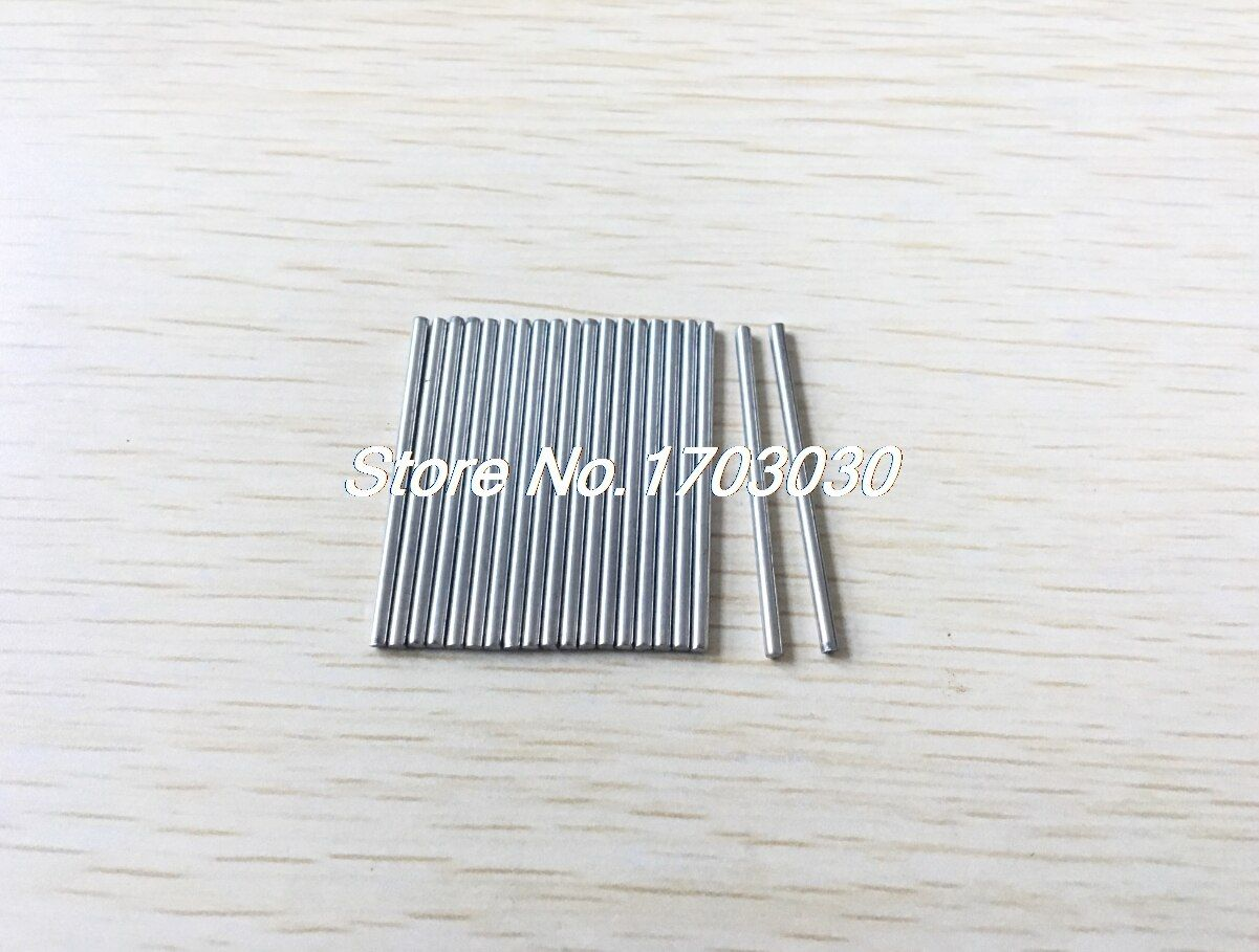 40Pcs 35 x 3mm Stainless Steel DIY Toy Model Drive Connecting Rod