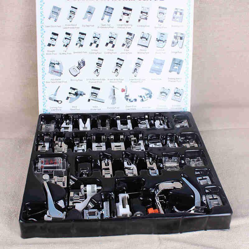 32 pcs Machine Presseur Pied Pieds Snap On À Coudre Domestique Ménage À Coudre Accessoire Kit Boîte à Outils Pour Brother Chanteur Janome
