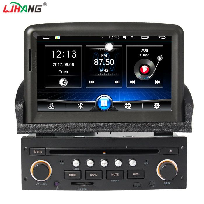 LJHANG 1 din Android 6.0 Auto DVD player für peugeot 307 bluetooth lenkrad-steuerung RDS GPS Automotive Navi multimedia wifi