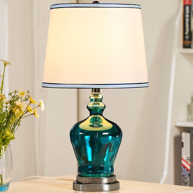 Tuda Kostenloser Versand Blau glas Tischlampe Modernen Minimalistischen Tischlampe Für Schlafzimmer Blau Vase Tischlampe