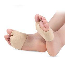 Tcare 1 Pasang Kain Patah Tulang Kaki Lengan Metatarsal Lengan dengan Sole Bantal Gel Bantalan untuk Metatarsalgia Fraktur Anti Slip Bantalan