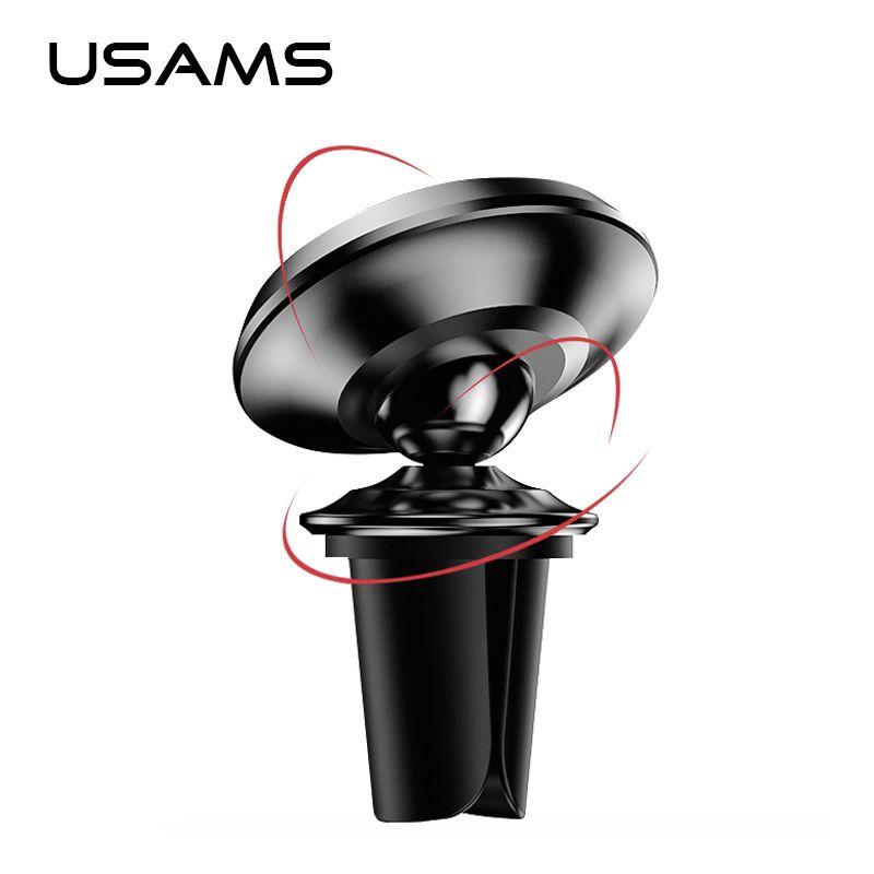 USAMS Auto Magnetischer Halter 360 Drehbaren Telefonhalterung Universal Air Vent montieren Auto Magnet Halter Stehen für iphone 5 6 7 Samsung