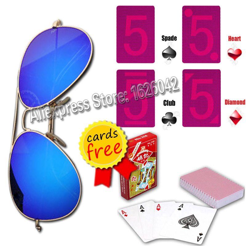Lunettes magiques XF001 cartes à jouer invisibles lunettes cartes de tricherie magiques cartes de Poker en Perspective Anti-Poker