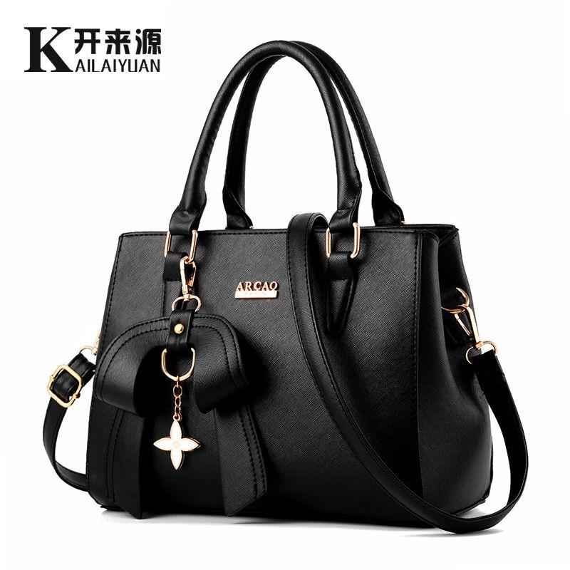 KLY 100% Echtem leder Frauen handtasche 2018 Neue weibliche Koreanische version stereotype süße mode handtaschen Messenger Messenger