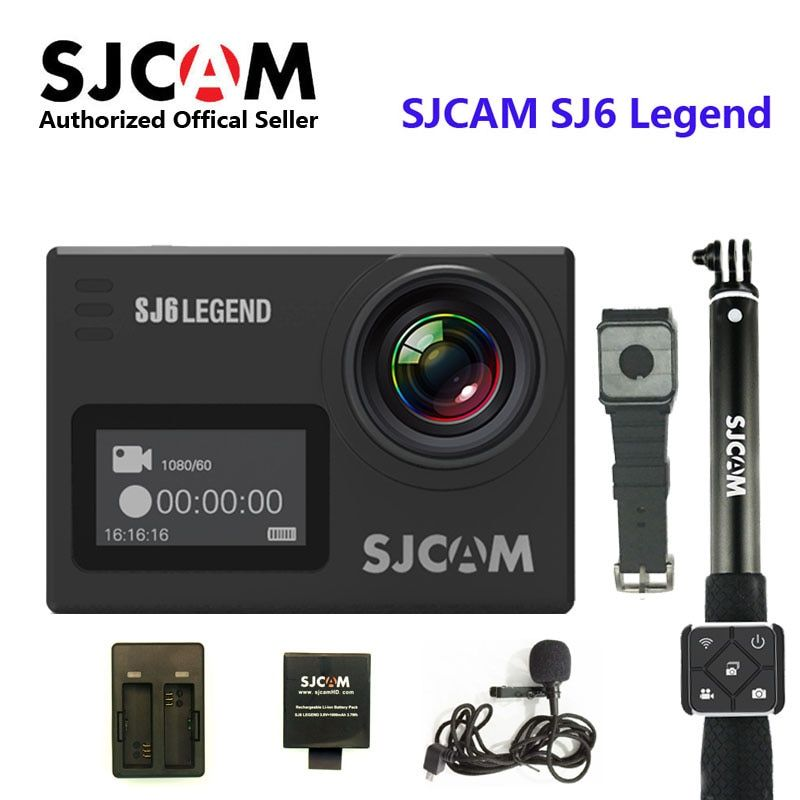 SJCAM SJ6 Legend 4K 24FPS Remote Action Camera 30M Waterproof Sports DV 2.0 Touch Screen Helmet Camcoder With Accessories