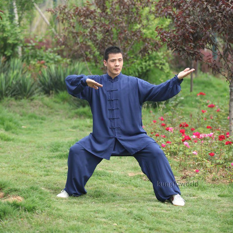 Tai chi uniforme coton 5 couleurs haute qualité Wushu Kung fu vêtements enfants adultes arts martiaux aile Chun costume