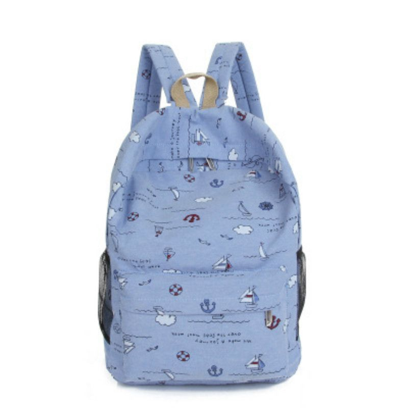2017 Printing Laptop Backpack Women Canvas Bag Brand Travel Backpacks Satchel School Bags For Teenage Girls Mochila Mujer