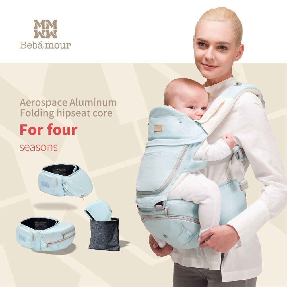 Bebamour 360 Multifunctional Baby Carrier 6-in-One Designer Sling Foldable Hipseat Manduca Babies Wrap Backpack for Newborns