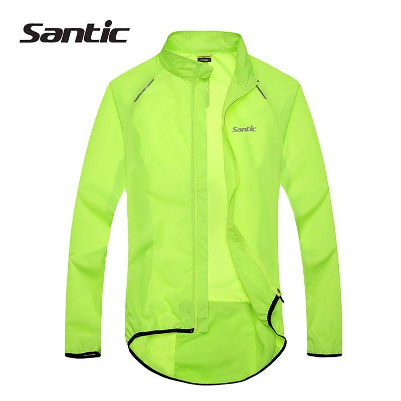 Santic Men Cycling Jacket UPF30+ Bicycle Bike Rain Jacket Raincoat Long Sleeve Outdoor Sport Windproof Cycling Clothing Ciclismo