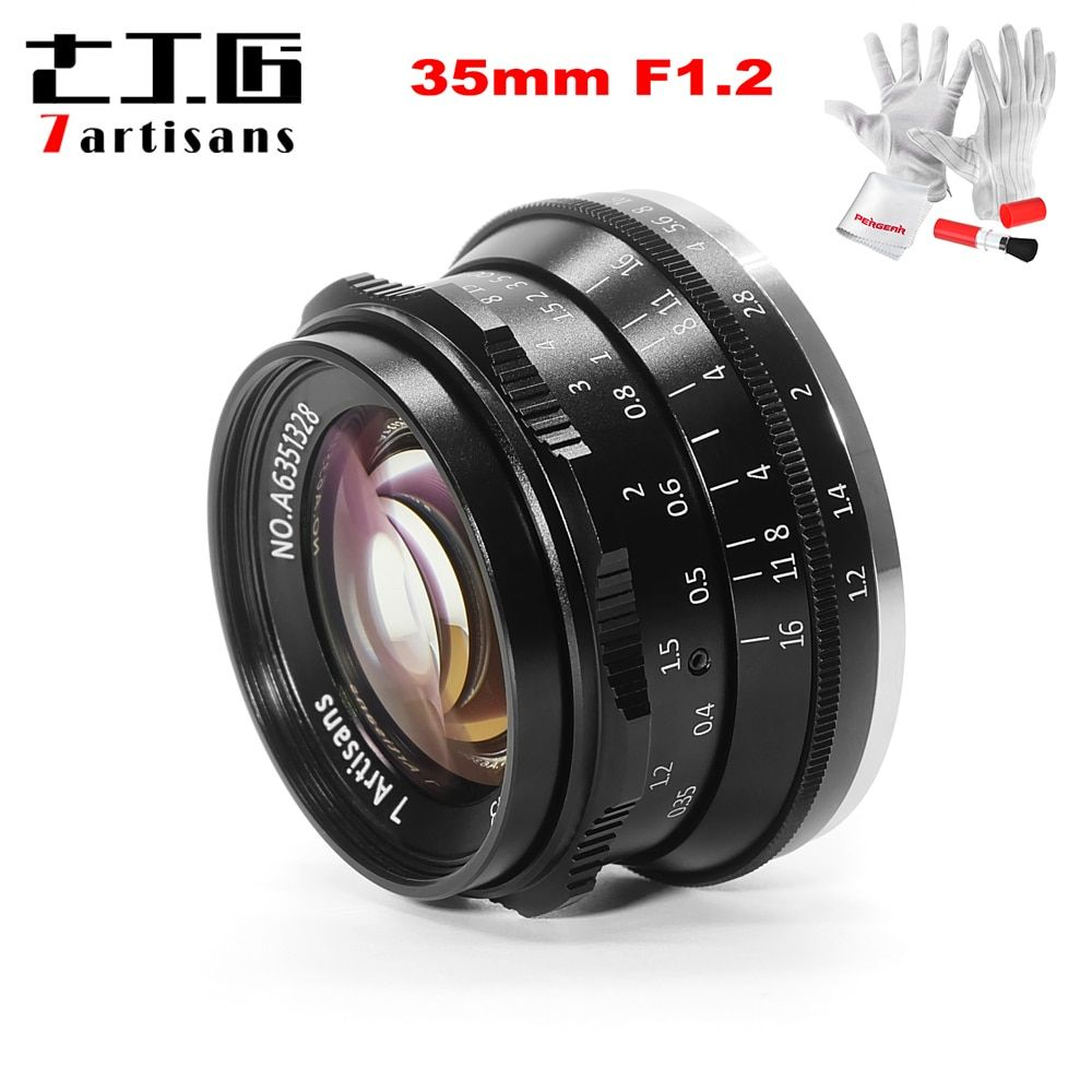 7 handwerker 35mm F1.2 APS-C Manuelle Festen Prime Objektiv für Sony E Berg Canon EOS-M Mount Fuji FX Berg a6500 A6300 A7 X-A1 M5 M6 M10