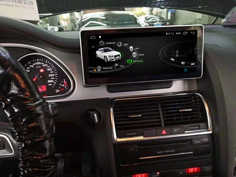Navirider 8 core Android 8.0 auto gps-player für Audi Q7 2005-2010 bluetooth radio touch screen stereo kopf einheiten band recorder