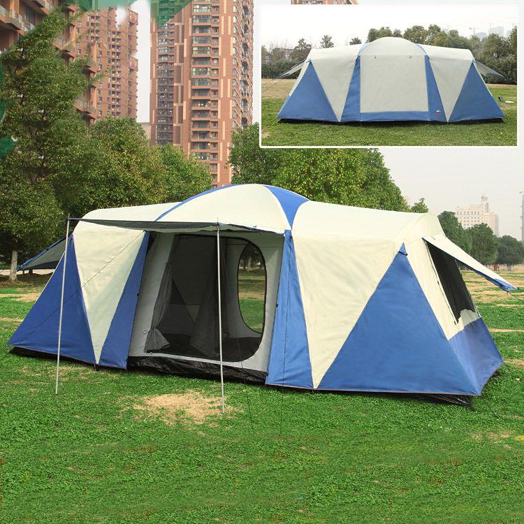 8 10 12 person 2 schlafzimmer 1 wohnzimmer riesige anti regen Sonnenschirm shelter markise familie wandern angeln strand outdoor-camping-zelt