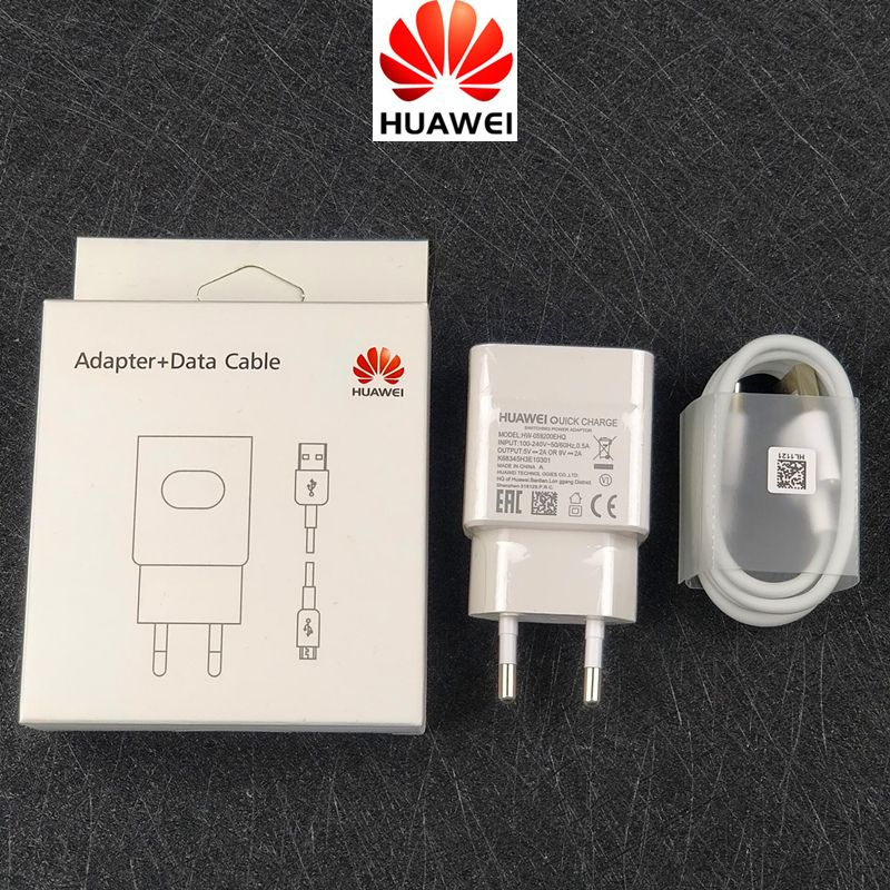 D'origine Huawei p20 lite chargeur QC 2.0 Rapide Charge Rapide Adaptateur et Câble Usb Pour P10 P9 P8 Lite Honneur 9 8 compagnon 10 nova 2 2i 3 3i
