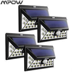 Mpow 24led solar powered luces al aire libre lámpara de entrada sensor de movimiento inalámbrico Iluminación seguridad impermeable pared Focos