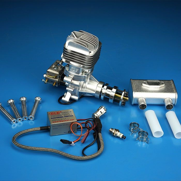 DLE35RA 35cc GAS Engine For RC Airplane Fixed Wing Model Single Stroke two exhaust wind cold hands start after Stroke