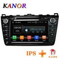 KANOR Android 8,0 4 + 32G 8 Core IPS 2din Radio del coche para Mazda 6 Ruiyi 2008 de 2009 a 2010 2011, 2012 WIFI GPS reproductor de DVD Multimedia PC