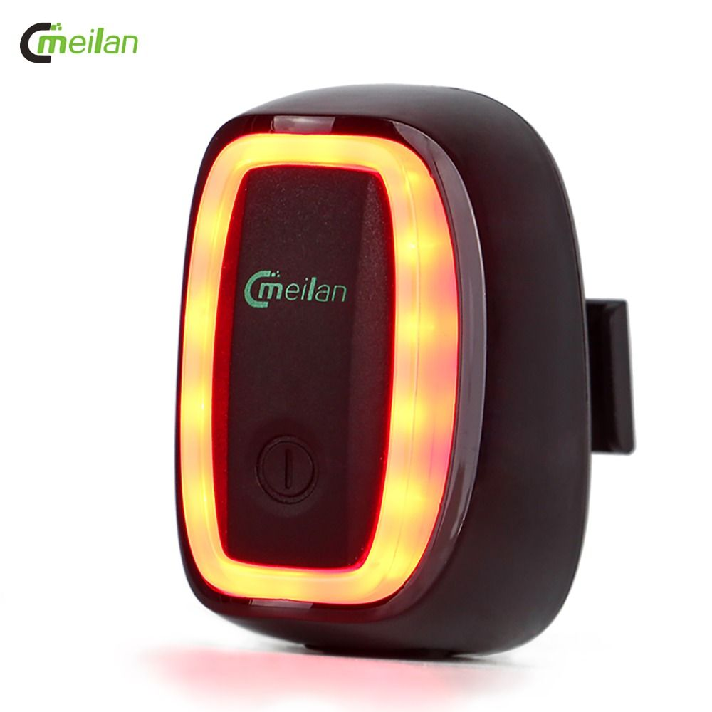 Meilan X6 Bicycle Light <font><b>Tail</b></font> Light Intelligent and Rechargeable Streamline Bike Rear Light