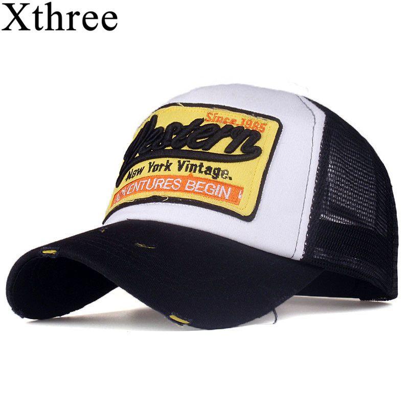 [Xthree] sommer hysteresenhut baseball-cap mesh cap billige kappe casquette knochen hut für männer frauen casual gorras