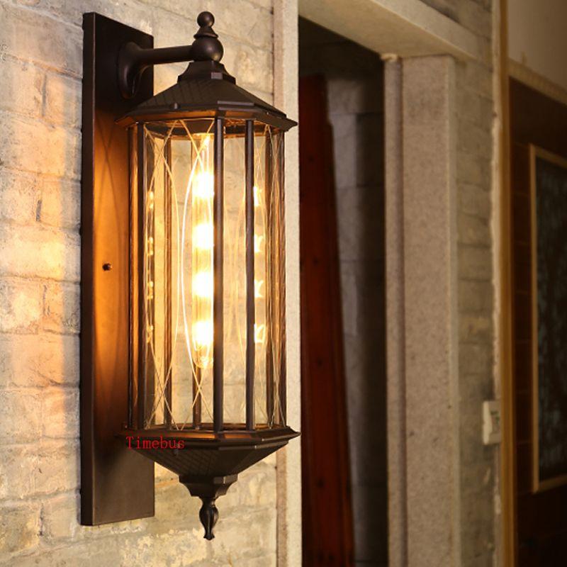 Outdoor waterproof wall lamp villa commercial house door post courtyard waterproof lamp garden corridor LED outdoor wall lamps