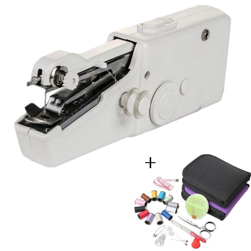 Machines à coudre portatives à coudre coudre couture sans fil vêtements tissus électrique Machine à coudre broderie Kit de couture