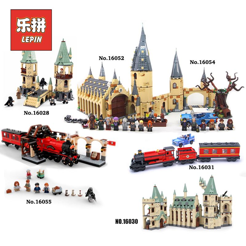 Lepin Harry Movie Potter Hogwarts Castle Express Train Blocks Compatible Legoinglys Kids Toy 4867 4842 4841 75954 75953 75955