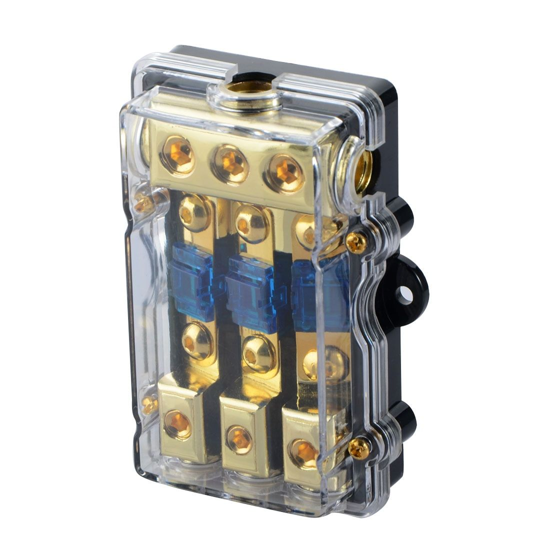 1PCS Universal Car Auto Vehicles Audio Amplifier 1 in 3 ways Out Fuse Holder Fuse Box