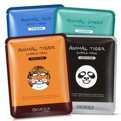 BIOAQUA 1 pcs Soins de La Peau de Mouton/Panda/Chien/Tigre Masque Facial Hydratant Mignon Animal Visage Masques