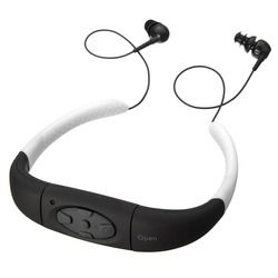 JOEAIS 3 Colors IPX8 Waterproof MP3 Player Headset Swimming Surfing SPA Diving Sports MP3 Player FM Radio Built in 4GB Memory