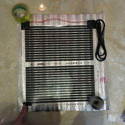 220VAC Infrarouge Lointain Électrique Chauffage Par Le Sol Films Échantillon 50 cm * 50 cm Avec 1.5 M Câble Pied Chaud Tapis