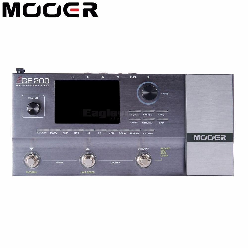 Mooer GE200 Multi Effektprozessor 40 Drum Patterns 55 AMP Modelle 52 Zweite Looper 70 Electric Gitarre Effektpedal