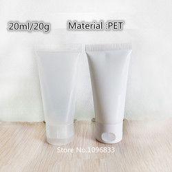 50 pcs Isi Ulang Botol Kosmetik Dengan Topi Sandal Plastik PE Tabung memeras Memeras Botol membentuk Lembut selang dengan flip 20 g/ml