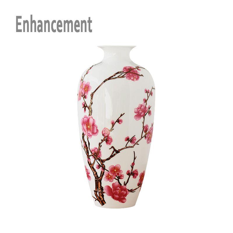 Jingdezhen antique porcelaine porcelaine classique chinois Vase Kaolin fleur Vase décor à la maison à la main fleur de prunier Vases