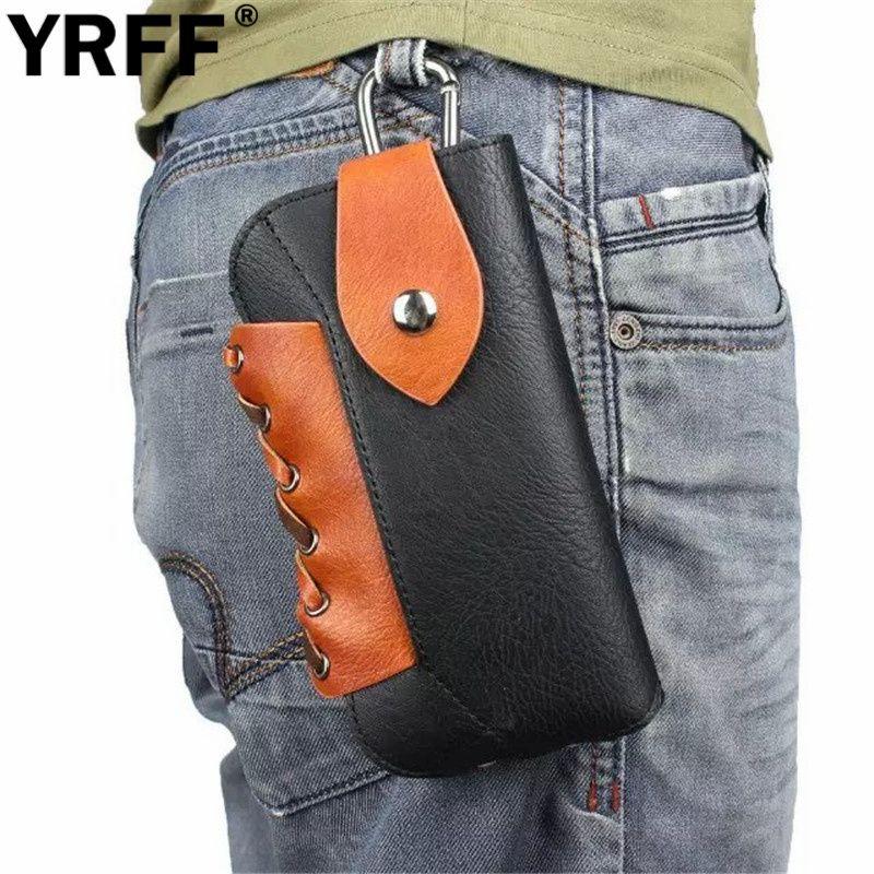 YRFF Corde Extérieur Sport Téléphone Sac Crochet Boucle Ceinture Pochette Étui Cas couverture Pour iPhone 6 4.7 6 Plus 5.5 pour samsung note 5 poche