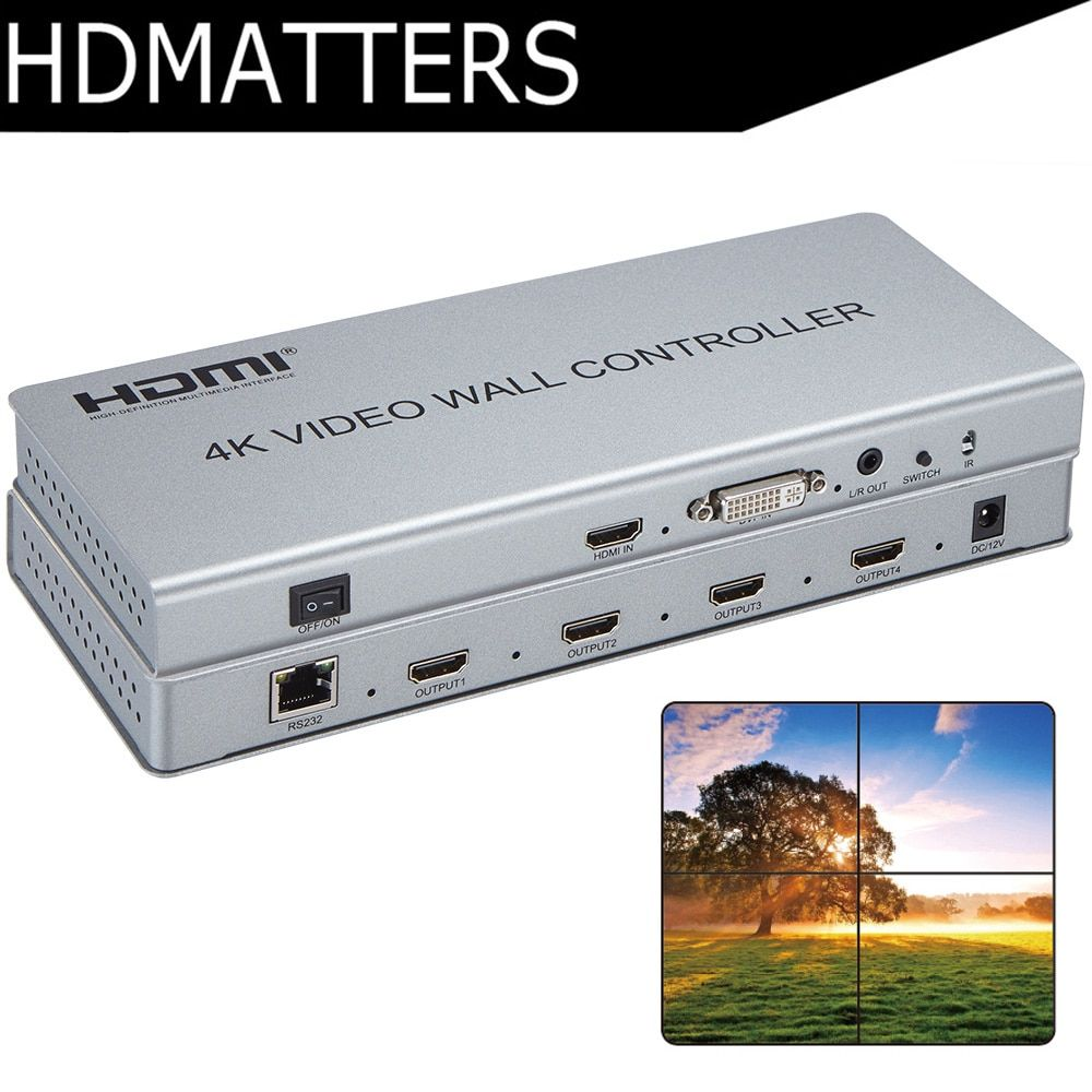 Video Wand controller 4 K X 2 K HDMI 1,4 video Wand Prozessor DVI/HDMI in zu 4X HDMI heraus mit audio & RS232 control