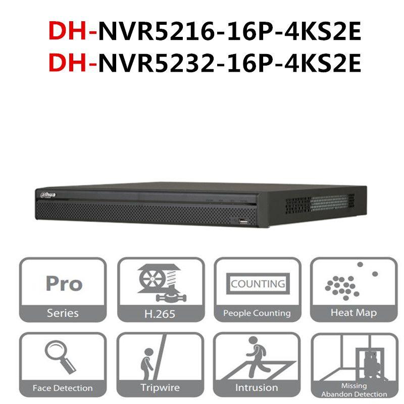 DH NVR POE NVR5216-16P-4KS2E NVR5232-16P-4KS2E 16CH 32CH mit 16 PoE ports 4 K & H.265 Pro Netzwerk Video Recorder