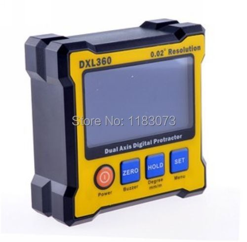 High Accuracy Dual Axis Digital Angle Protractor Angle Meter Dual-axis Digital Level Gauge with 5 Side Magnetic Base With Box