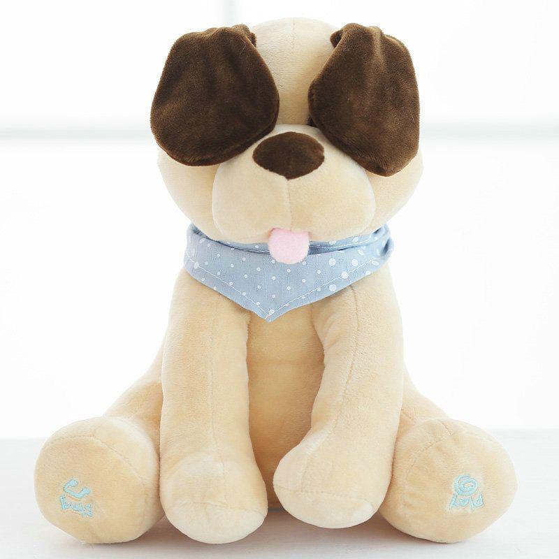 Peluche chien peluche animaux & peluche poupée musique chien éducatif Anti-stress électrique jouet pour bébé