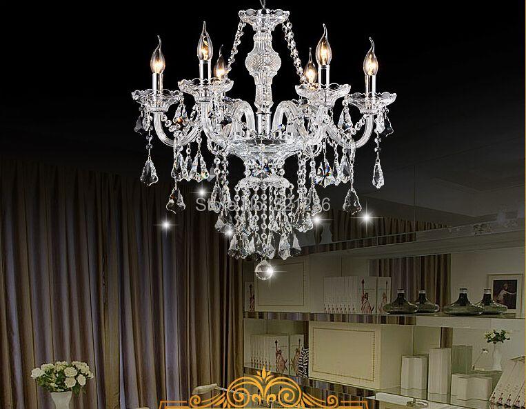 Modern transparent crystal chandelier Hand Blown Crystal Chandelier Light Cristal candle crystal chandelier living room