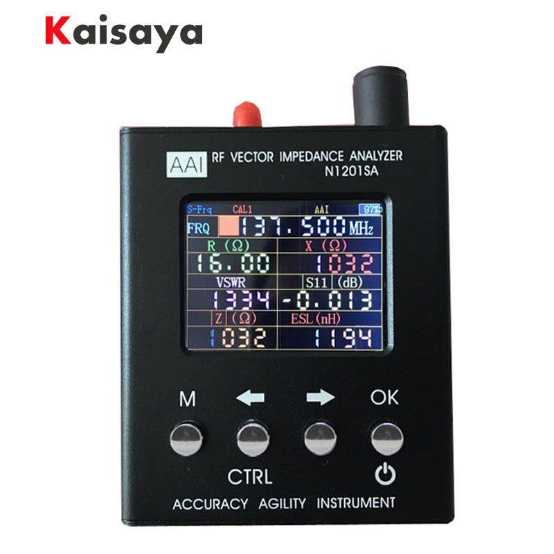 new English verison N1201SA 140MHz-2.7GHz UV RF Vector Impedance ANT SWR Antenna Analyzer Meter Tester 140MHz - 2.7GHz
