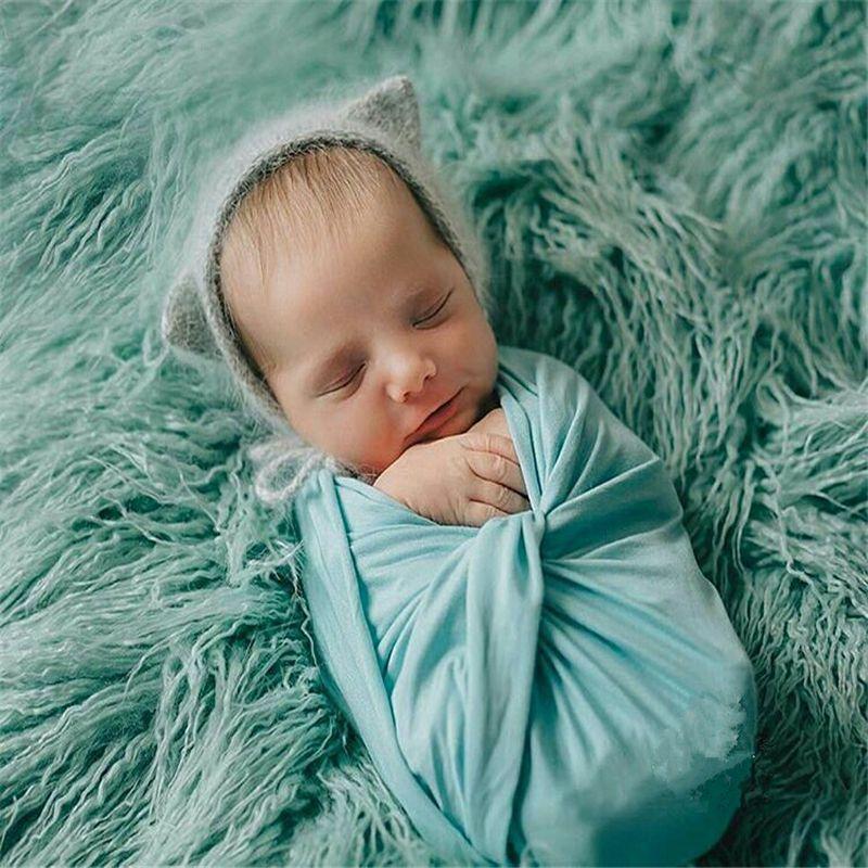 50*80CM Faux Fur Photography Props Newborn Photo Prop Faux Flokati Fur Newborn Photography Background Stuffer Newborn Basket