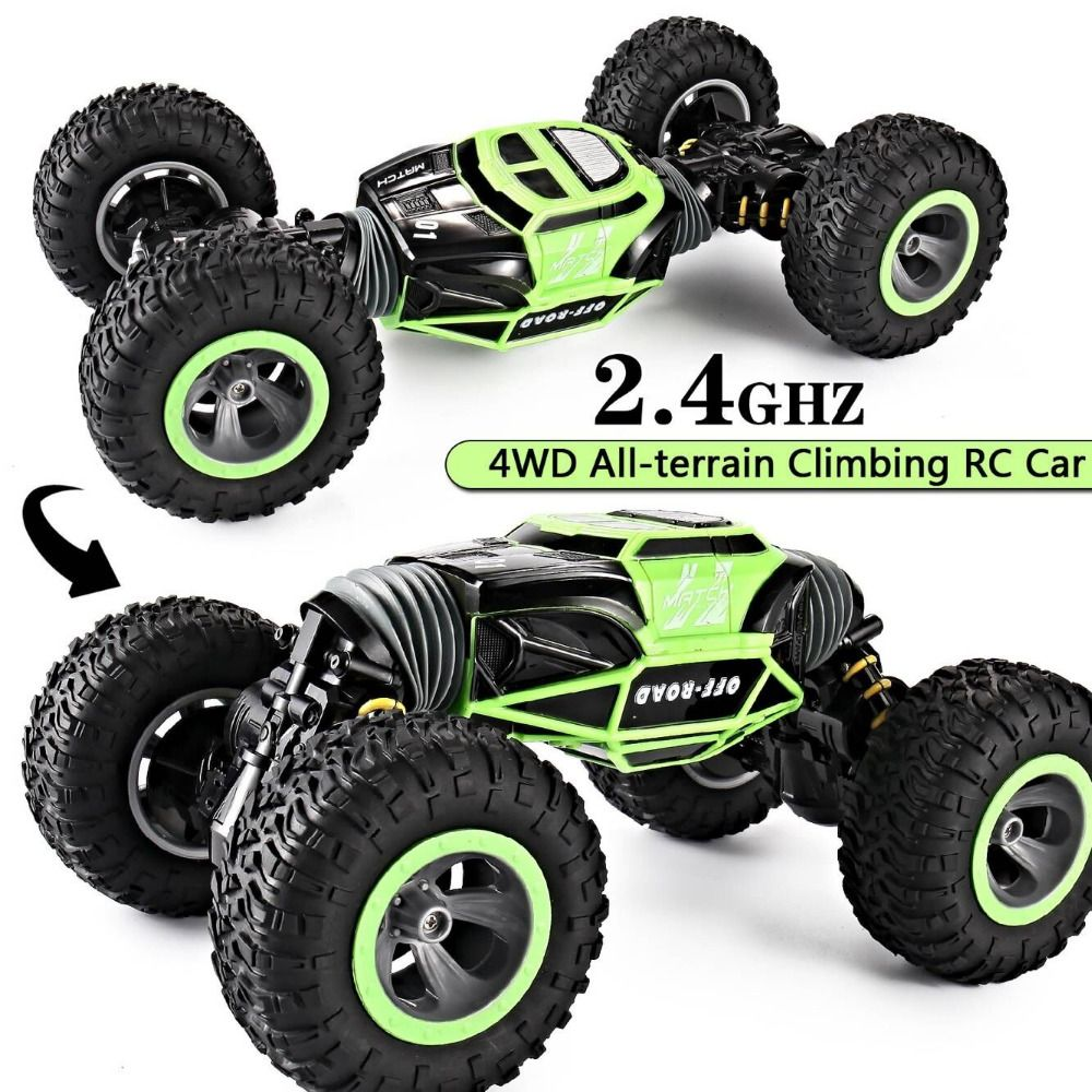 RC Car 4WD Truck Scale Double-sided 2.4GHz  One Key Transformation All-terrain Vehicle Varanid Climbing Car Remote Control Toys