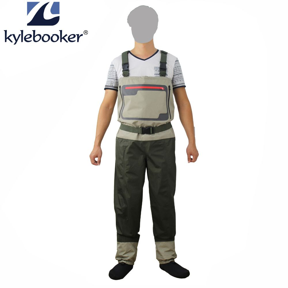 New Style Fly Fishing Wader Stocking Foot Chest Waders Breathable Waterproof Fishing Wader