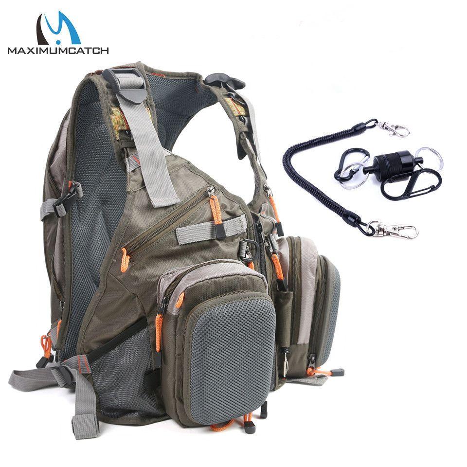 Fliegenfischen Angeln Vest Rucksack outdoor-Rucksack Tasche Verstellbaren Gürtel