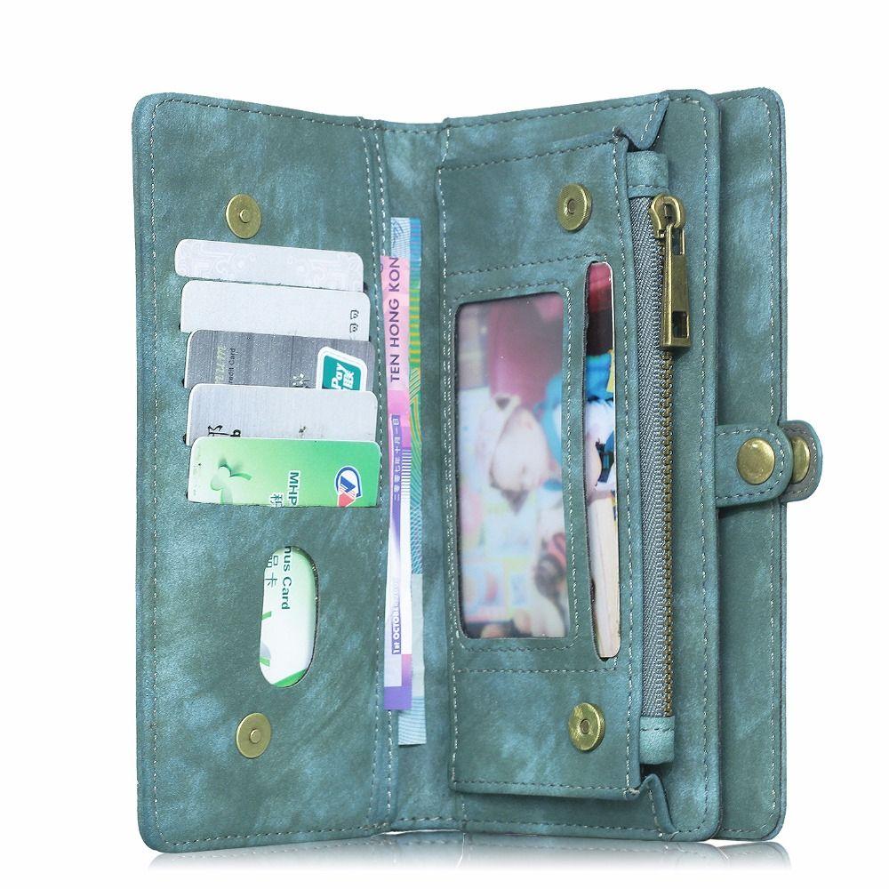 Megshi Роскошные Флип кожаный чехол для LG G6 Съемная Многофункциональный молнии с держателем карты для G5 G4 g3 телефон сумка