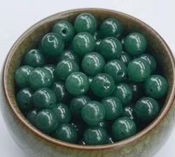 Naturel Émeraude Dispersés Un-niveau Jade Perle D'huile Vert quartz Rock Jade Perles