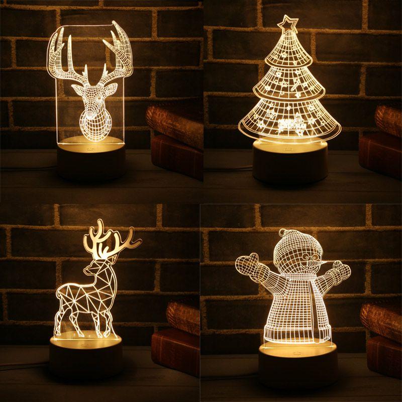 Navidad 3D LED Lampe Nette Weihnachten Baum Schneemann LED Nacht Licht Xmas Party Dekoration Energiesparende Atmosphäre Control Lampe