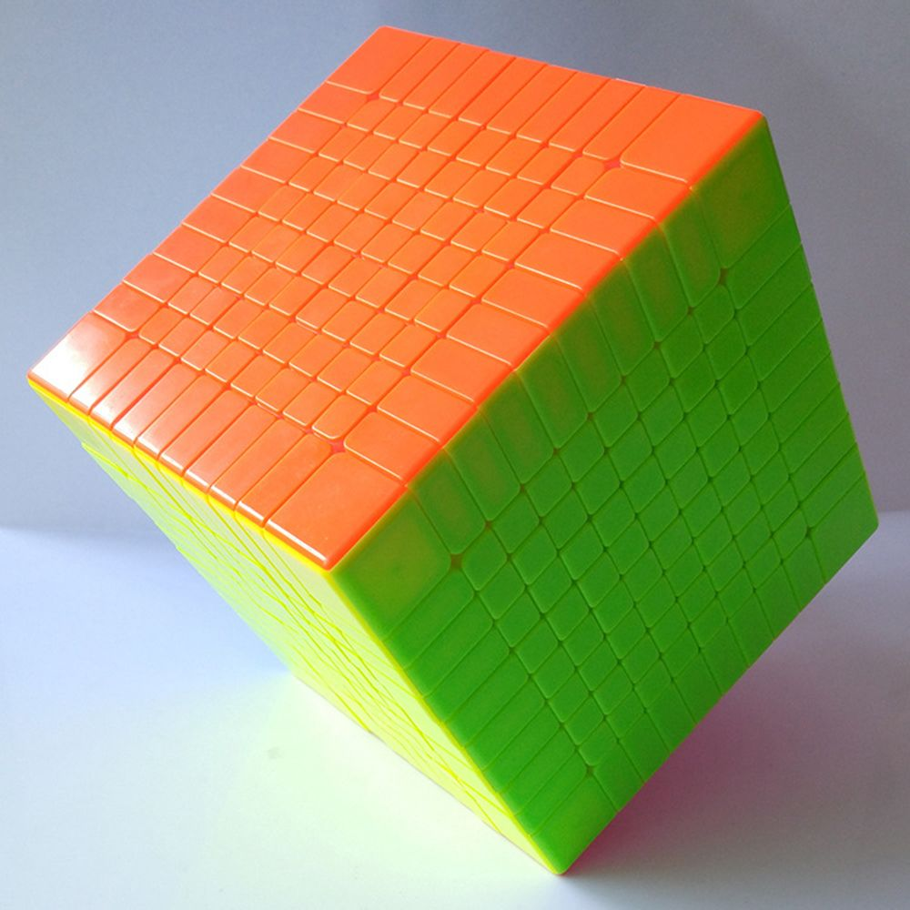 Colorful 10x10x10 Solid Color Rubiks Cube Competition Magic Cube Puzzle Educational Toys for Children