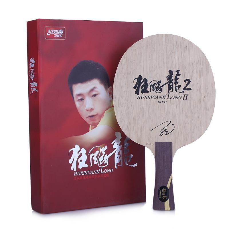 DHS Hurrikan Lange 2 (Ma Lange 2) Tischtennis Klinge (7 Ply Holz) schläger Ping Pong Bat Paddel