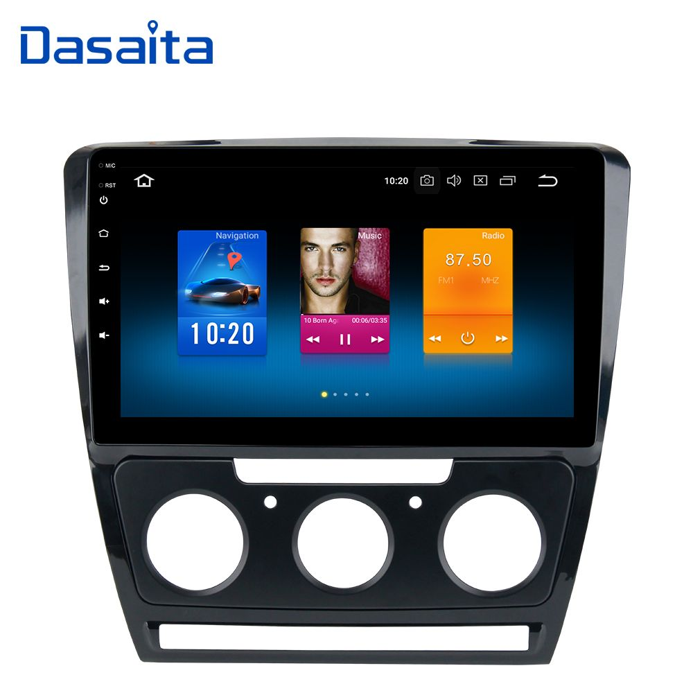 Android 8.0 1din Car Radio for Skoda Octavia DVD Player 2007 2008 2009 2010 2011 2012 2013 2014 with 10.2