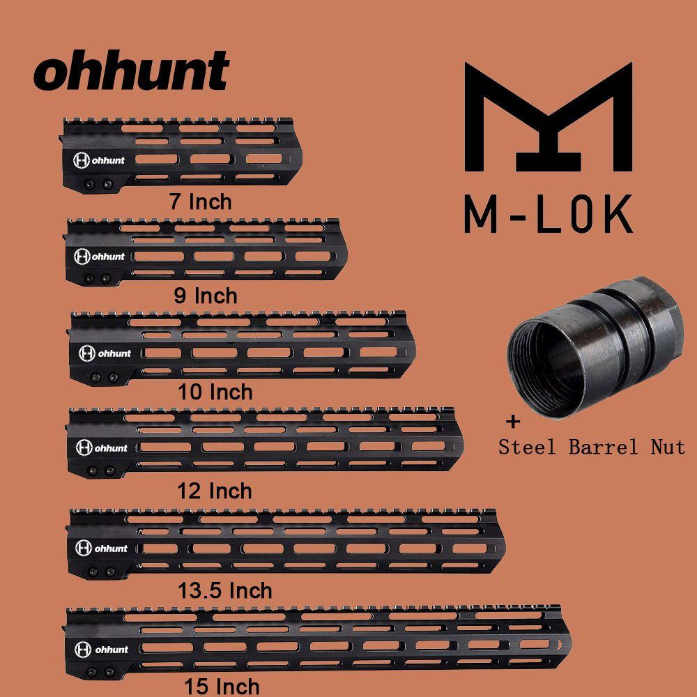 Ohhunt Taktische M-LOK Handschutz Schiene Montieren 7 9 10 12 13,5 15 M LOK Streubesitz Picatinny Schiene Halterung mit Stahl Zylindermutter